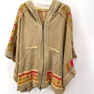 FREE PEOPLE EMBROIDERED OVERSIZED BOHEMIAN JACKET